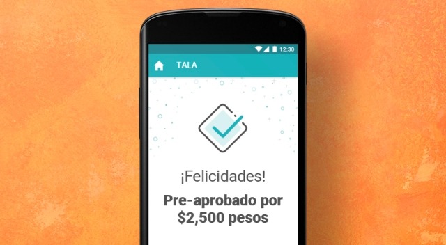 An image of the tala app for approval