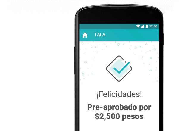 An image of the Tala app loan approved